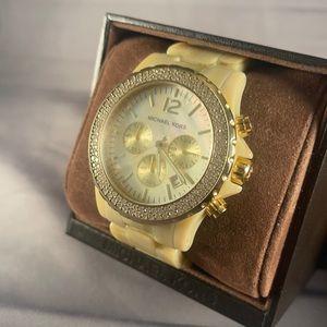 Michael Kors Madison Chronograph Watch - Faux Horn